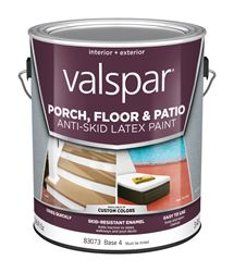 Valspar  Anti-Skid  Interior/Exterior  Latex  Porch & Floor Paint  Tintable  Flat  1 gal. Base 4