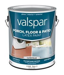 Valspar  Interior/Exterior  Latex  Porch & Floor Paint  Tintable  Gloss  1 gal. Base 2