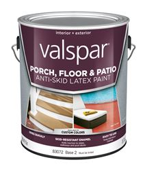 Valspar  Anti-Skid  Interior/Exterior  Latex  Porch & Floor Paint  Tintable  Flat  1 gal. Base 2