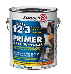 Zinsser  Bulls Eye 123  Water-Based  Interior and Exterior  Primer and Sealer  1 gal. White