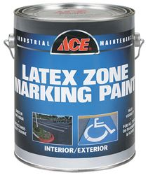 Ace  Interior/Exterior  Latex  Traffic Marking Paint  Yellow  1 gal.