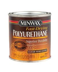 Minwax  Indoor  Clear  Semi-Gloss  Fast Drying Polyurethane  1/2 pt.