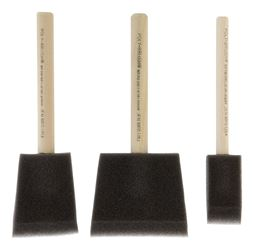 Jen  1, 2 and 3 in. W Chiseled  Foam  Paint Brush Set