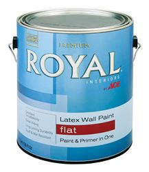 Ace  Royal  Interior  Acrylic Latex  Paint  Ultra White  Flat  1 gal.