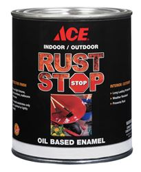 Ace  Gloss  Ultra White  Rust Stop Oil-based Enamel Paint  400g/L  White  1 qt.