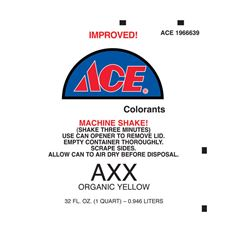 Ace  Universal Machine  AXX Organic Yellow  Paint Colorant  1 qt.