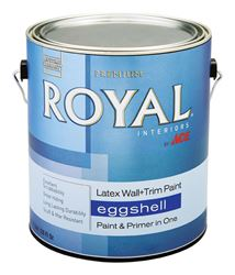 Ace  Royal  Interior  Acrylic Latex  Wall & Trim Paint  Ultra White  Eggshell  1 gal.