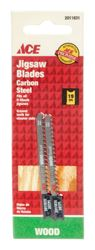 Ace  Carbon Steel  U-Shank  2-3/4 in. L Jig Saw Blade  19 TPI 2 pk
