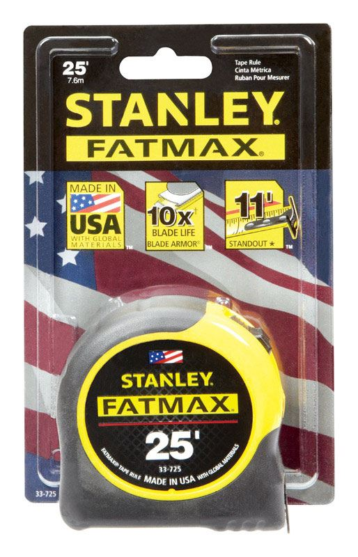 Stanley FatMax  Tape Rule  1-1/4 in. W x 25 ft. L