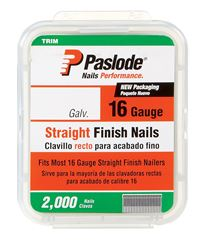 Paslode  1-1/4 in. L 16 Ga. Galvanized  Straight  Finish Nails  2,000 pk