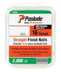 Paslode  2-1/2 in. L 16 Ga. Galvanized  Straight  Finish Nails  2,000 pk