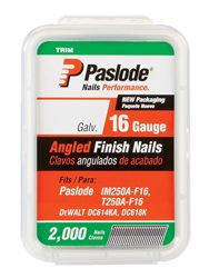 Paslode  1-1/2 in. L 16 Ga. Galvanized  Angled  Finish Nails  2,000 pk