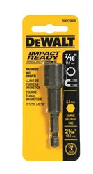 DeWalt  Magnetic Tip 7/16 in.  x 2-9/16 in. L x 2-9/16 in. L Impact Ready  Nut Driver  Magnetic