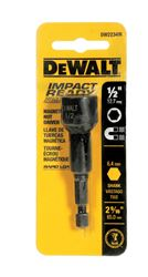 DeWalt  Impact Ready  Magnetic Tip 2-9/16 in. L x 2-9/16 in. L x 1/2 in.  Nut Driver  Magnetic