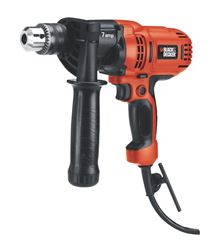 Black+Decker  7 amps 1/2 in. Keyed  800 rpm Corded Drill