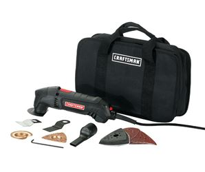 Craftsman  Corded  Oscillating Tool Kit  2 amps 19,000 opm