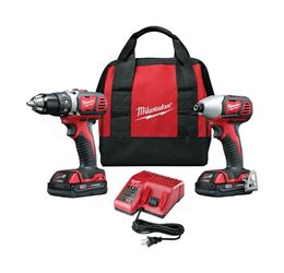 Milwaukee  M18  2 pc. Cordless  Drill/Driver and Impact Driver Combo Kit  Lithium-Ion  18 volts