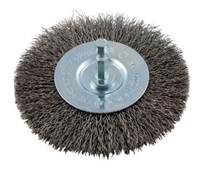 Forney  4 in. Dia. Fine Crimped  Wire Wheel Brush  6000 rpm
