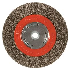 Forney  6Forney 6 in. Crimped Wire Wheel Brush Metal 6000 rpm 1 pc. in. Dia. Coarse Crimped  1/2 in. Wire Wheel Brush  6000 rpm