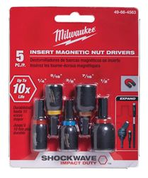 Milwaukee  Shockwave  Multi Size  Nut Drivers  1/4 in. Dia. x 1.5 in. L 5 pc.