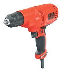 Black+Decker  5.2 amps 3/8 in. Keyless  1500 rpm Corded Drill