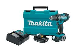 Makita  18 volts 1/2 in. Keyless  Cordless Compact Drill/Driver Kit