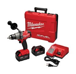 Milwaukee  M18 Fuel  18 volts 1/2 in. Single Sleeve Ratcheting  Cordless Drill/Driver Kit