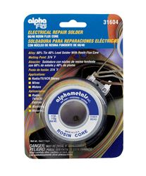 Alpha Fry  Tin / Lead  For Electrical Repair Solder  4 oz. 60% Tin, 40% Lead  For TV, Wires, Radio,