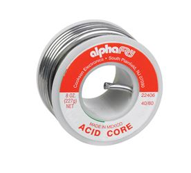 Alpha Fry  Tin / Lead  For Plumbing Acid Core Solder  8 oz. 40% Tin, 60% Lead  For Non-Electrical Wo