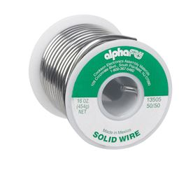 Alpha Fry  Tin / Lead  For Plumbing Solid Wire Solder  16 oz. 50% Tin, 50% Lead  For Non-Electrical