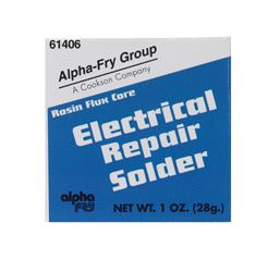 Alpha Fry  Tin / Lead  For Electrical Repair Solder  1 oz. 40% Tin, 60% Lead  For Electrical Solderi