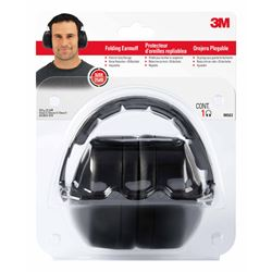 3M  Reusable  Folding Earmuffs  25 dB Black
