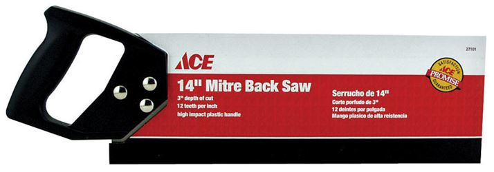 Ace  Mitre Back Saw  14 in. L Plastic Handle