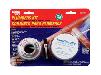Alpha Fry  Silver Bearing  Plumbers Kit  6 oz. Flo-Temp Solid Wire, Silver Bearing Solder  For Non-E