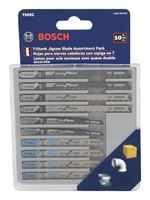 Bosch  High Carbon Steel  T-Shank  Jig Saw Blade Set  10 pk