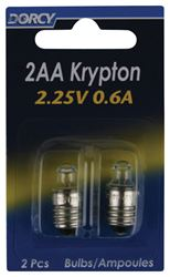 Dorcy  2AA  Flashlight Bulb  2.25 volts Krypton  Screw