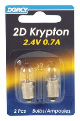 Dorcy  2D  Flashlight Bulb  2.4 volts Krypton  Bayonet