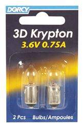 Dorcy  3D  Flashlight Bulb  3.6 volts Krypton  Bayonet