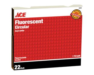 Ace  Fluorescent Bulb  22 watts 800 lumens Circline  T9  8 in. L Cool White  1 pk
