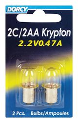 Dorcy  2C/2AA  Flashlight Bulb  2.2 volts Krypton