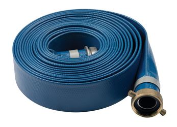 Abbott Rubber  1-1/2 in. Dia. x 50 ft. L Discharge Hose  PVC