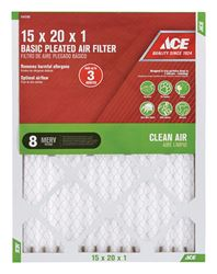 Ace  20 in. L x 15 in. W x 1 in. D Pleated  Air Filter  8 MERV