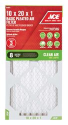 Ace  20 in. L x 10 in. W x 1 in. D Pleated  Microparticle Air Filter  8 MERV