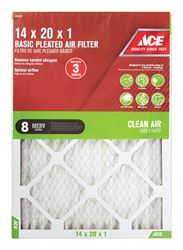 Ace  20 in. L x 14 in. W x 1 in. D Pleated  Air Filter  8 MERV