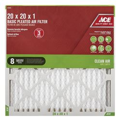 Ace  20 in. L x 20 in. W x 1 in. D Pleated  Air Filter  8 MERV