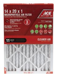 Ace  20 in. L x 14 in. W x 1 in. D Pleated  Microparticle Air Filter  11 MERV