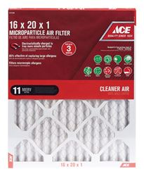 Ace  20 in. L x 16 in. W x 1 in. D Pleated  Microparticle Air Filter  11 MERV