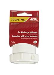 Ace  1-1/2 in. Dia. x 1-1/2 in. Dia. Slip To Slip  Plastic  Coupling
