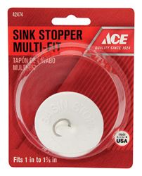 Ace  1 in. Dia. Sink Stopper  Rubber