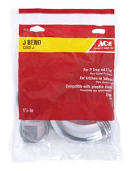 Ace  1-1/2 in. Dia. x 1-1/2 in. Dia. Slip To Slip  Chrome Plated  Brass  J Bend